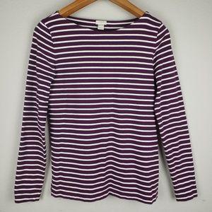J.Crew striped horizontal long sleeves sz S